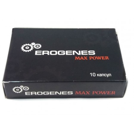Препарат для потенции Erogenes Max Power БАД 10 капсул