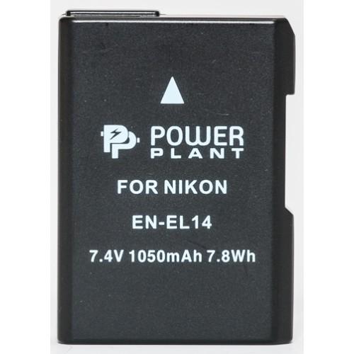 PowerPlant Aккумулятор для Nikon EN-EL14 Chip (D3100, D3200, D5100) (1050 mAh) - DV00DV129