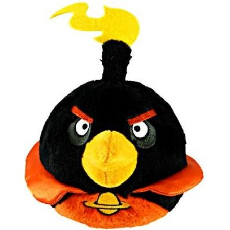 "Angry Birds 5"" Space Black Bird Plush with sound"