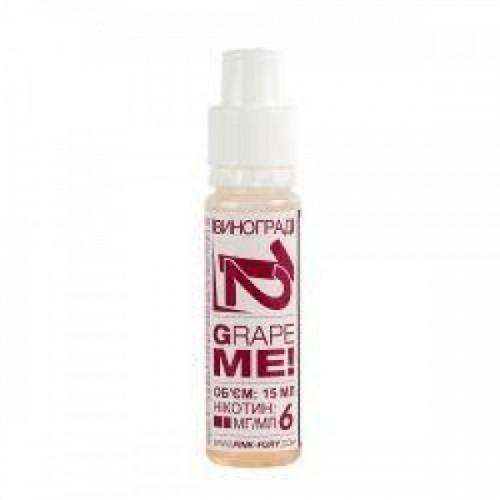 Жидкость для электронных сигарет Pink-Fury Жидкость GRAPE ME Виноград 15 мл