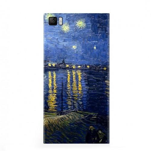 Виниловая наклейка Xiaomi Back Cover for Mi3 (Night city) ORIGINAL