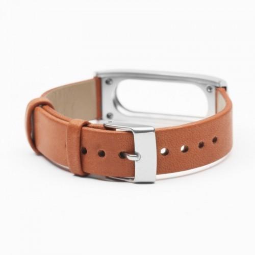 Xiaomi Ремешок для Фитнес-трекера Mi Band Leather Brown (Лицензия)