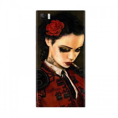 Виниловая наклейка Xiaomi Back Cover for Mi3 (Girl) ORIGINAL