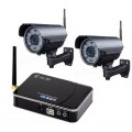 Комплект беспроводного видеонаблюдения c 2-мя видеокамерами